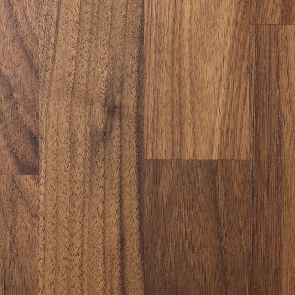 KARLBY Custom made worktop, walnut/veneer, 63.6-125x3.8 cm