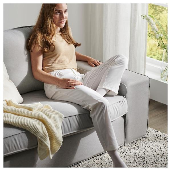 KIVIK 4-seat sofa, with chaise longue/Orrsta light grey
