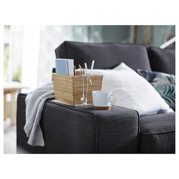KIVIK 4-seat sofa with chaise longue/Hillared anthracite 318 cm 83 cm 95 cm 163 cm 60 cm 124 cm 45 cm