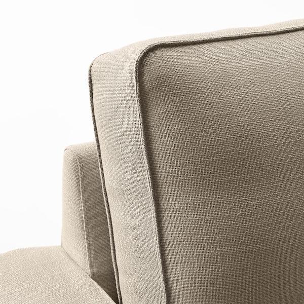KIVIK Corner sofa, 5-seat, with chaise longue/Hillared beige