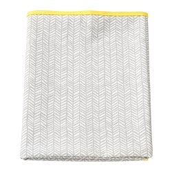 KLÄMMIG babycare mat, grey, yellow