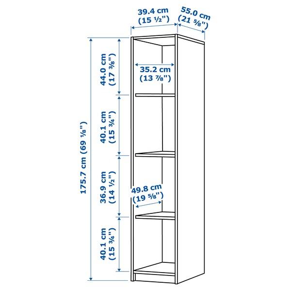 KLEPPSTAD Open wardrobe, white, 39x176 cm
