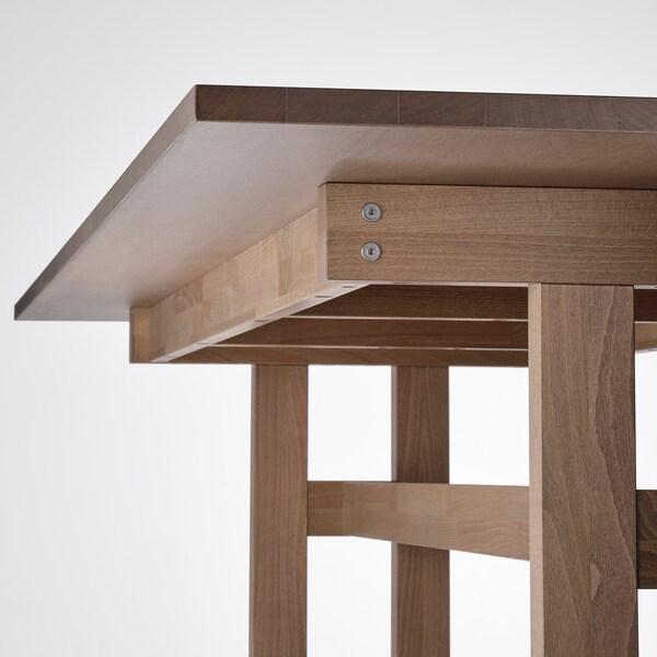 KLIMPFJÄLL / BERGMUND Table and 6 chairs, grey-brown/Kolboda beige/dark grey, 240x95 cm