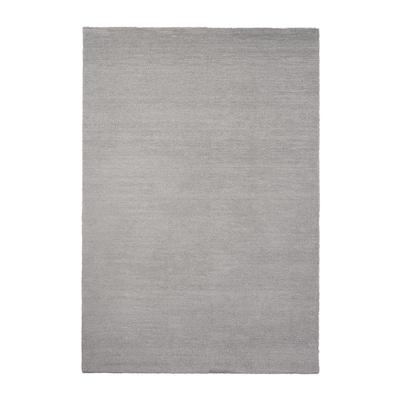 KNARDRUP Rug, low pile, light grey, 133x195 cm