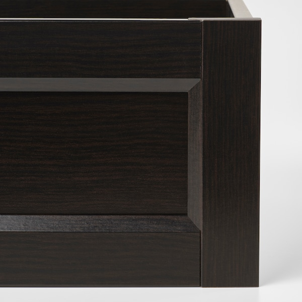 KOMPLEMENT Drawer with framed front, black-brown, 50x58 cm