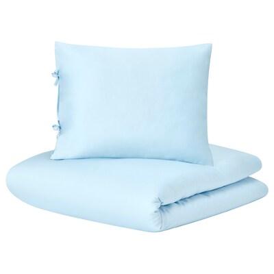 KRITSUGA Duvet cover and pillowcase, light blue, 150x200/50x60 cm