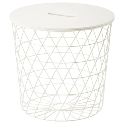 KVISTBRO Storage table, white, 44 cm