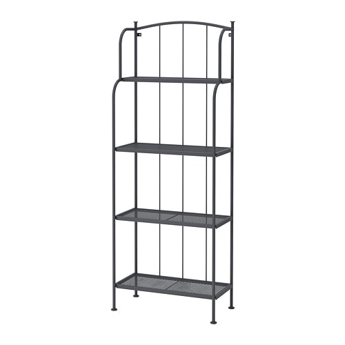 new styles 7e0d3 61488 LÄCKÖ - Shelving unit, outdoor, grey