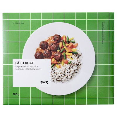 LÄTTLAGAT Vegetable balls with rice, ready meal frozen, 380 g