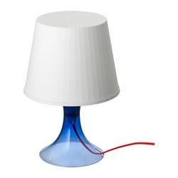 LAMPAN table lamp, blue