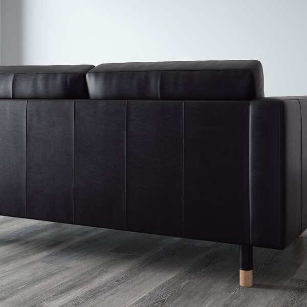 LANDSKRONA 5-seat sofa, with chaise longues/Grann/Bomstad black/wood