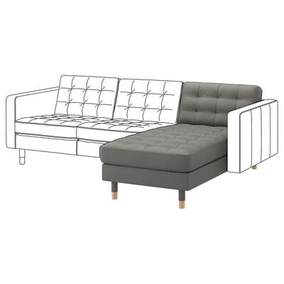 LANDSKRONA Chaise longue, add-on unit, Grann/Bomstad grey-green/wood