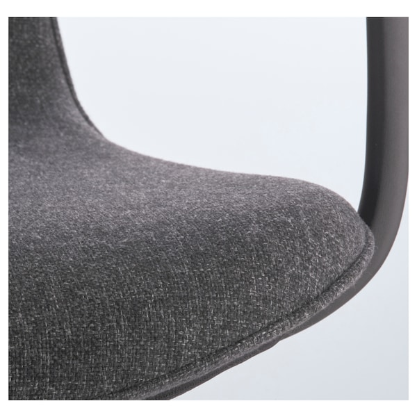 LÅNGFJÄLL Conference chair with armrests, Gunnared dark grey/black