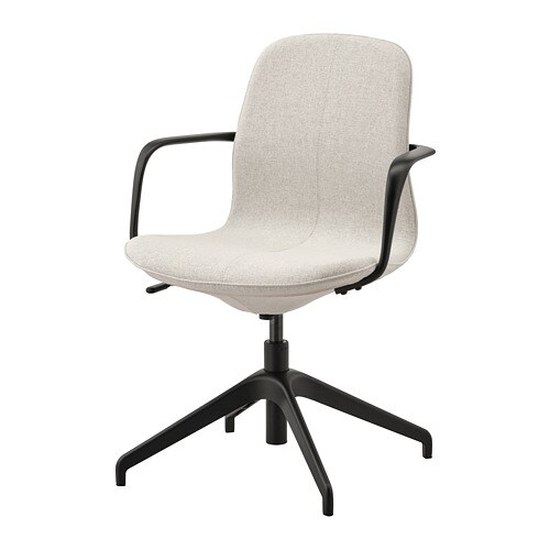Scaune Simple.Langfjall Conference Chair With Armrests Gunnared Beige Black