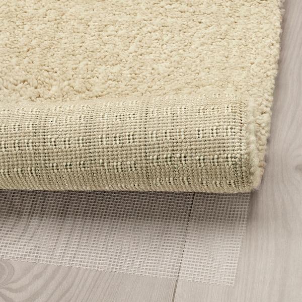 LANGSTED Rug, low pile, beige, 60x90 cm