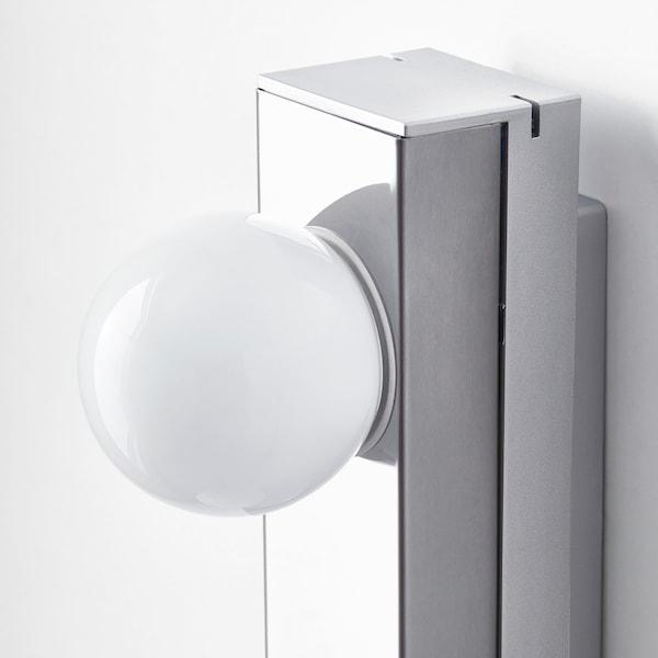 LEDSJÖ LED wall lamp, stainless steel