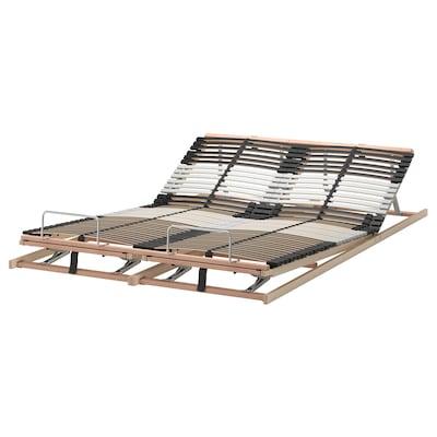 LEIRSUND Slatted bed base, adjustable, 140x200 cm