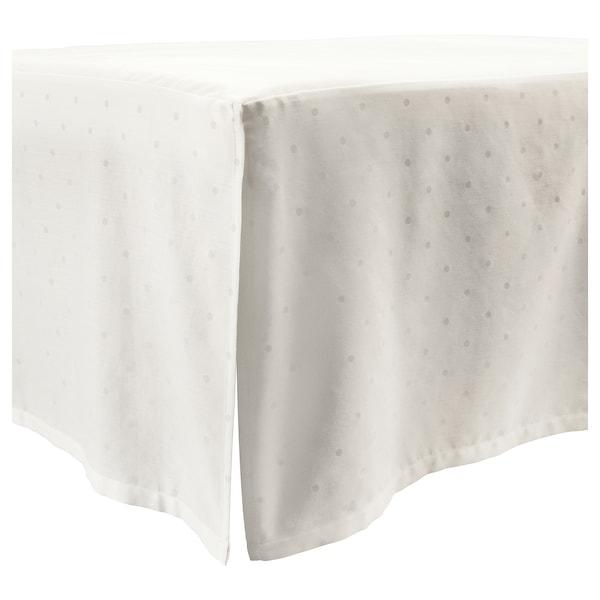 LENAST Cot skirt, dotted/white, 70x140 cm