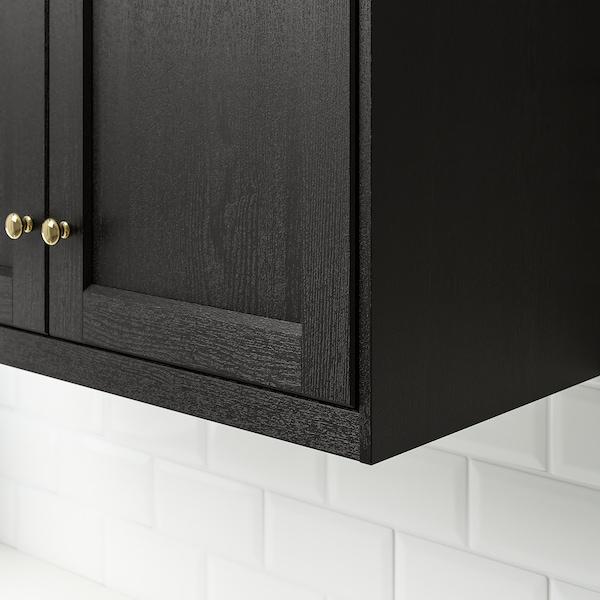 LERHYTTAN Deco strip, contoured edge, black stained, 221 cm