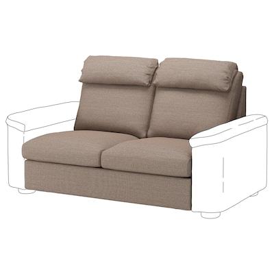 LIDHULT 2-seat sofa-bed section, Lejde beige/brown