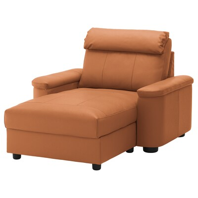 LIDHULT Chaise longue, Grann/Bomstad golden-brown
