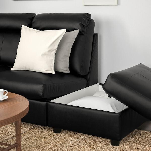 LIDHULT Corner sofa, 5-seat, with open end/Grann/Bomstad black