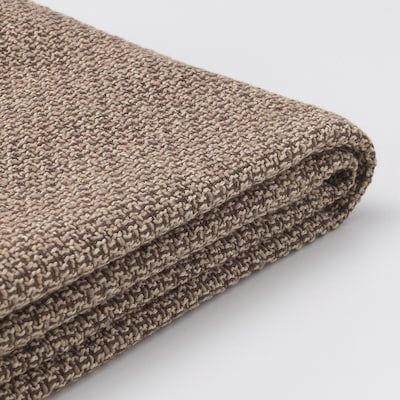 LIDHULT Cover f open end section w storage, Lejde beige/brown