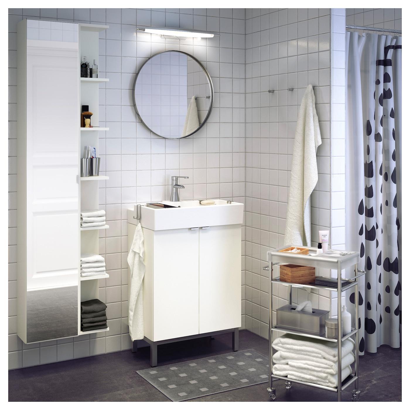 Lillangen High Cabinet With Mirror Door White Ikea Switzerland