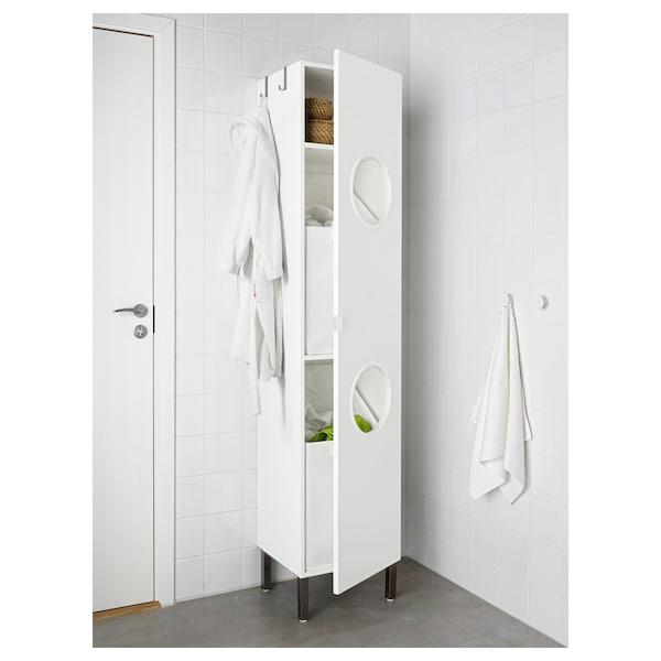 LILLÅNGEN Laundry cabinet, white, 40x38x194 cm