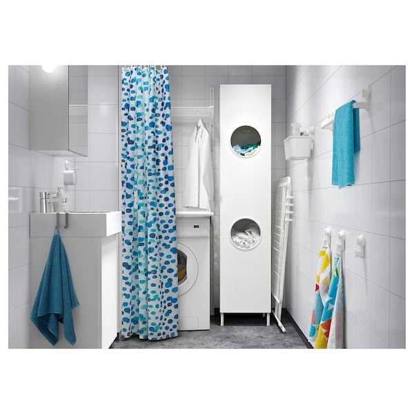 LILLÅNGEN Laundry cabinet, white, 40x38x179 cm