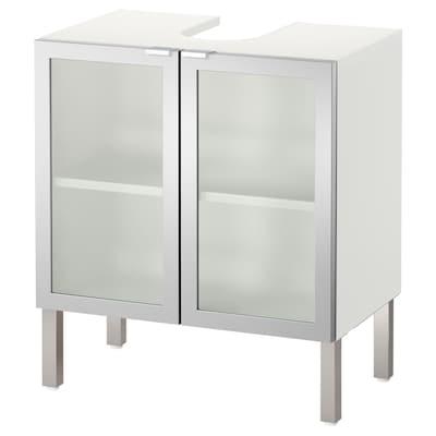 LILLÅNGEN washbasin base cabinet with 2 door aluminium 60 cm 38 cm 66 cm