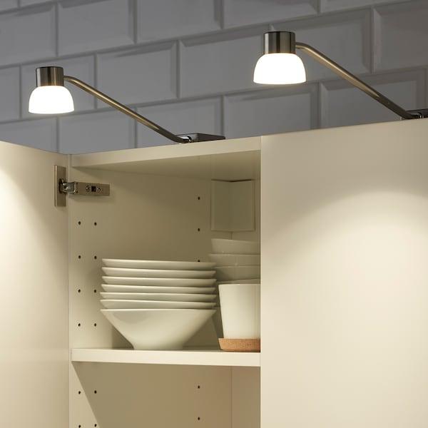 LINDSHULT LED cabinet lighting, nickel-plated