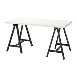 LINNMON /  ODDVALD table, white, black