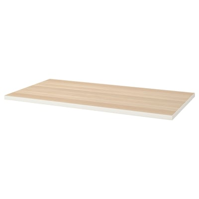 LINNMON Table top, white/white stained oak effect, 150x75 cm