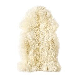 LUDDE sheepskin, white off-white