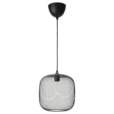 LUFTMASSA / HEMMA Pendant lamp, rounded/black, 26 cm