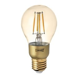 LUNNOM LED bulb E27 400 lumen, dimmable, globe brown clear glass