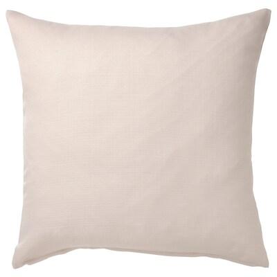 MAJBRÄKEN Cushion cover, light grey-beige, 50x50 cm