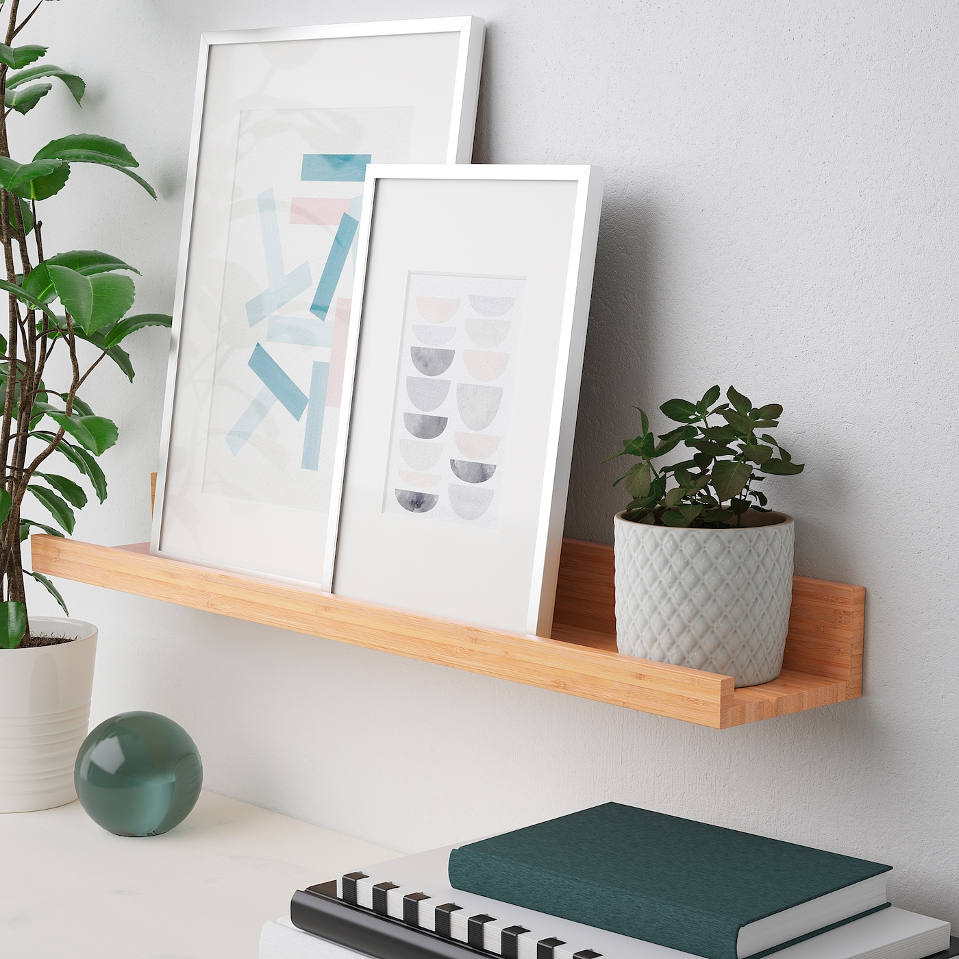 Cavalletti Per Quadri Ikea mÅlerÅs picture ledge - bamboo 75 cm