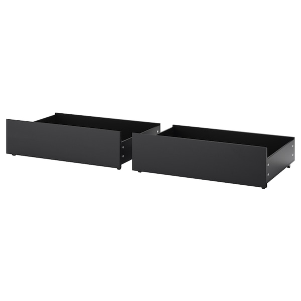 MALM bed storage box for high bed frame black-brown 15 cm 100 cm 62 cm 29 cm 97 cm 59 cm 2 pack 200 cm