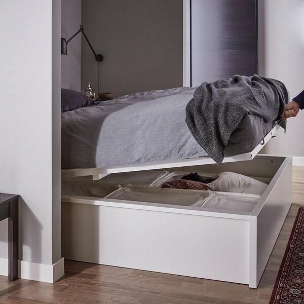 Wondrous Ottoman Bed Malm White Alphanode Cool Chair Designs And Ideas Alphanodeonline