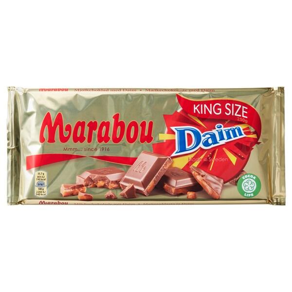 MARABOU Milk chocolate bar with daim