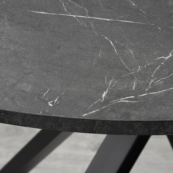 MARIEDAMM Table, black marble effect, 105 cm