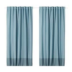 MARJUN room darkening curtains, 1 pair, blue