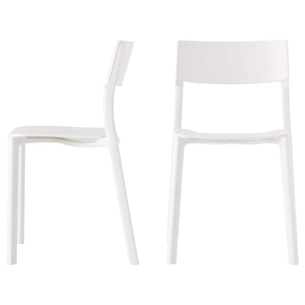 MELLTORP / JANINGE Table and 4 chairs, white/white, 125 cm