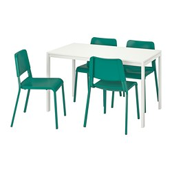MELLTORP /  TEODORES Table and 4 chairs