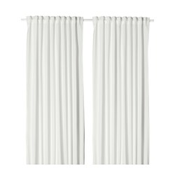 MERETE room darkening curtains, 1 pair, white