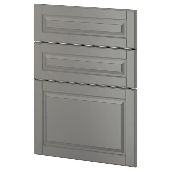METOD 3 fronts for dishwasher, Bodbyn grey, 60 cm