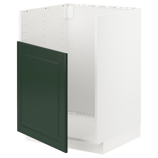 METOD Base cabinet f BREDSJÖN sink, white/Bodbyn dark green, 60x60 cm