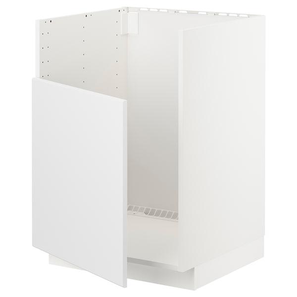METOD Base cabinet f BREDSJÖN sink, white/Kungsbacka anthracite, 60x60 cm